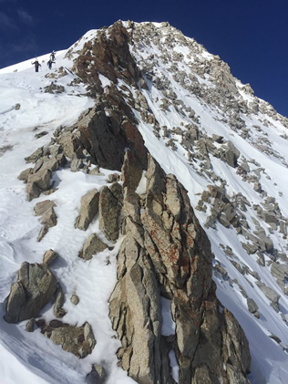 Ascending the East Ridge of the Pfeifferhorn