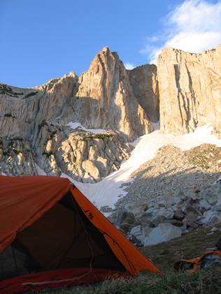 Camping in the Lone Peak Cirque