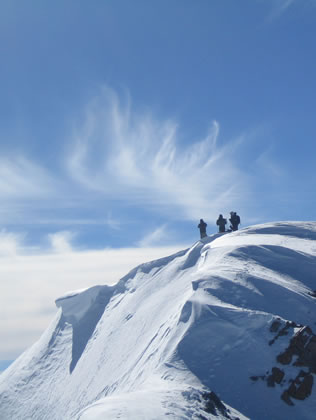 Climbers on Wasatch Summit