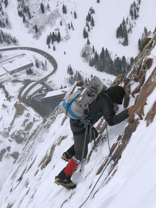Mixed alpine moves on South Ridge of Superior