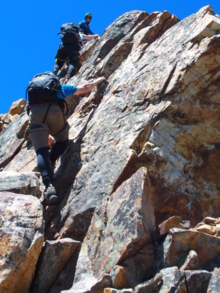 Climbing the West Slabs of Mt. Olympus